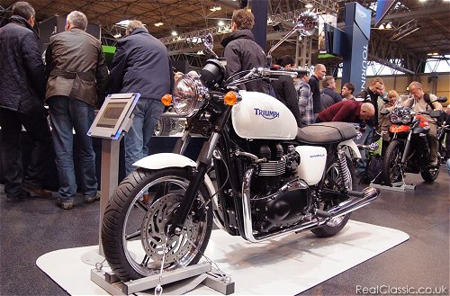 Overshadowed on the Triumph stand by the new Tiger 800...