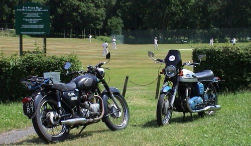 The number plate digits from the bike on the left were needed for the cricket scoreboard...