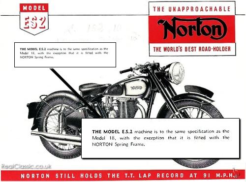 A Norton Model 18 brochure, yesterday...