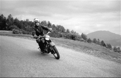 Dave in the Lakes on the BSA B31 in the early Sixties.