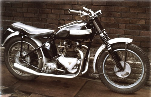The 3T in its 1967 guise as a make believe trials bike. The clutch burnt out first time cross a field.