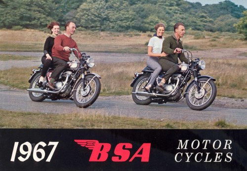 In 1967, BSAs were only available for sale to people with ginger hair. Fact.