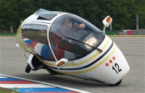 Paul Blezard on/in an Ecomobile. Maybe *this* is the answer?