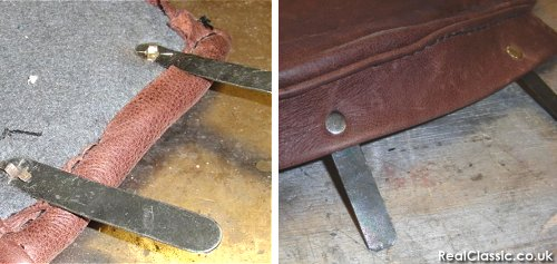 Fitting the bifurcated rivets