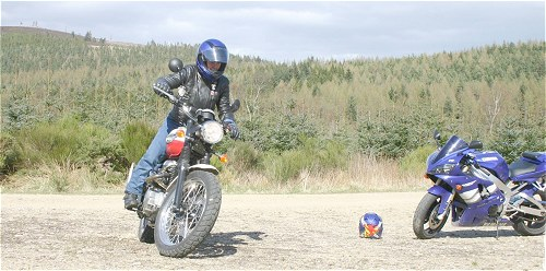 The game of Moto-Ball was great fun until the R1 owner returned.