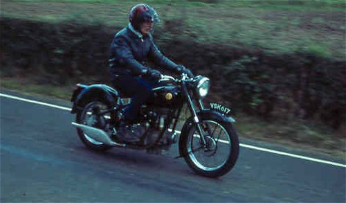 A gentleman's motorcycle. So this is plainly a gentleman!