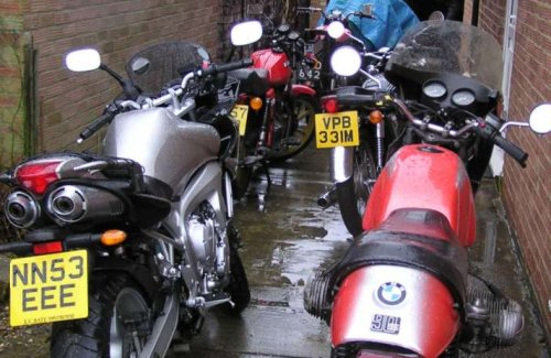 Amazing what you find crammed up The Toaster's back passage. Mostly bikes belonging to people called Paul.