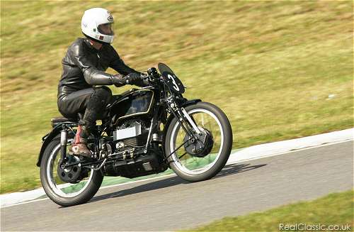 Velocette Roarer tackles the Mallory Mountain, yesterday. (Is this right?)...