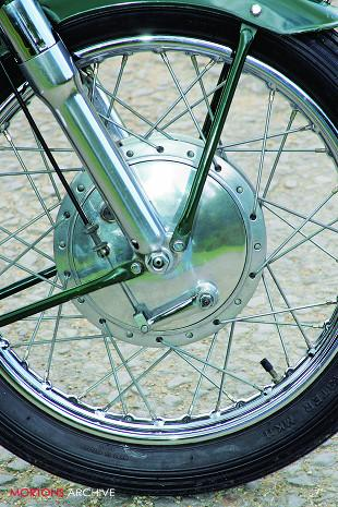 1959 Norton Model 50 front wheel and brake