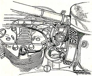 Triumph Daytona cyclinder head with twin carbs