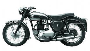BSA A7 classic British motorcycle