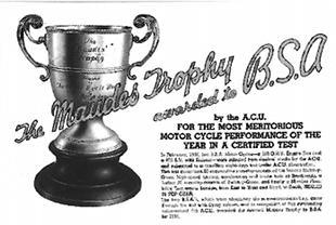Maudes Trophy for BSA