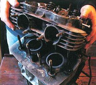 Yamaha XS250 motorcycle engine rebuild