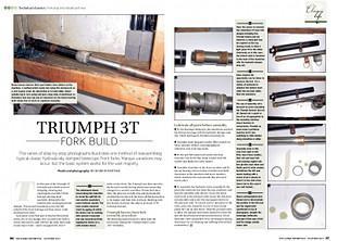 Triumph 3T fork rebuild