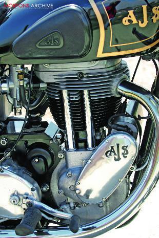 AJS Model 18S engine