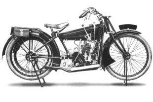 1920 three speed Alldays Allon classic motorcycle
