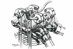 Triumph Ricardo four valve motorcycle engine