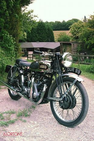 Vincent classic motorcycle