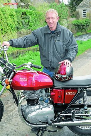 BSa A65L Lightning with owner