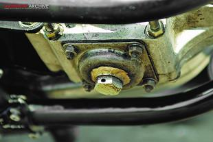 BSA Spitfire Scrambler sump plug and frame