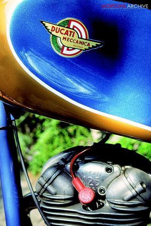 Ducati 125 classic Italian motorcycle