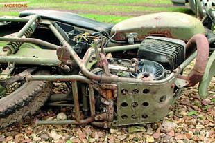 CanAm 250cc motorcycle rebuild