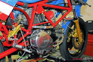 On the bench in the immaculate GTEC Performance workshop Jeff sets to work on bringing the little Ducati back to life