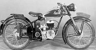 Villiers-powered Eysink at Amsterdam motorcycle show in 1951