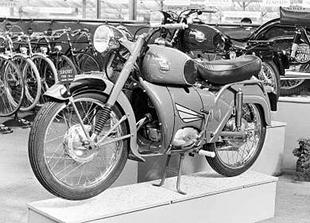 French built Follis classic motorcycle