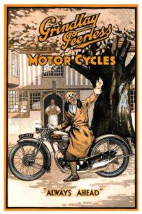 Advertisement for classic British motorcycle Grindlay-Peerless