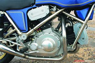 Hesketh V-twin motorcycle engine