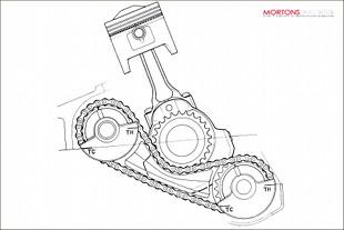 H0onda CB250 engine artwork