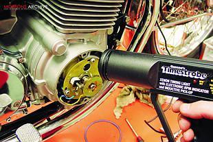 Honda CB750 motorcycle engine timing