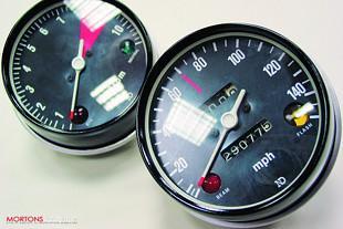 Honda CB750K2 rebuild, speedo and tachometer