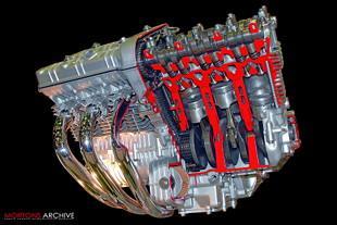 Honda CBX motorcycle engine