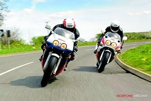 Honda RC30 and Yamaha 0W01