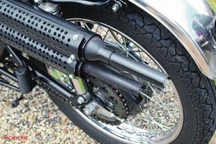 Kawasaki A7SS rear exhausts