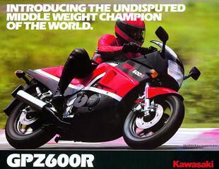 Kawasaki GPZ600R advert