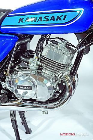 Kawasaki 250S1 three cylinder two stroke motorcycle