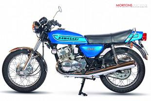 Kawasaki 250 S1 three cylinder two stroke motorcycle