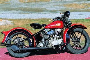 Harley-Davidson with Knucklehead engine