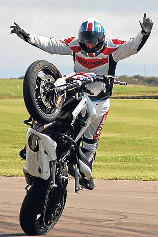 Motorcycle stunt rider Kevin Carmichael will be doing his best to wow the crowds at Lanark