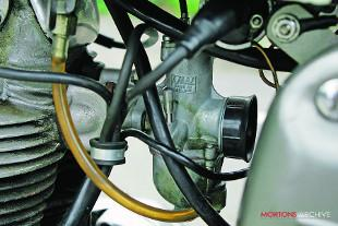 Norton Dominator 99SS motorcycle engine and carburettor