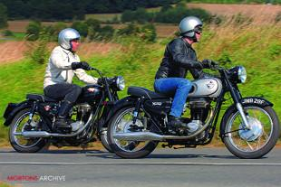 Norton ES2 and Matchless G3 Mercury