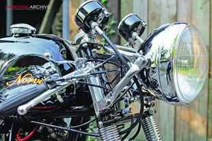 Norvin cafe racer classic motorcycle