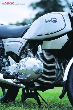 Norton Classic rotary-engined motorcycle