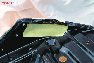Motorcycle seat recovering