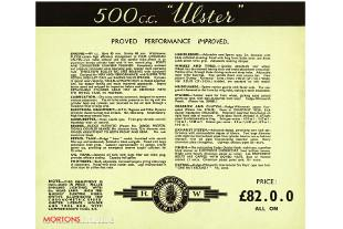 Rudge motorcycle advertisement brochuire