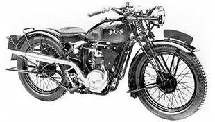 Late model SOS Birmingham-built motorcycle, powered by Villers engine