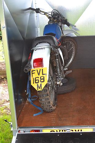 Latham Tfrailers' motorcycle box trailer